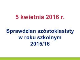 2016 sprawdzian